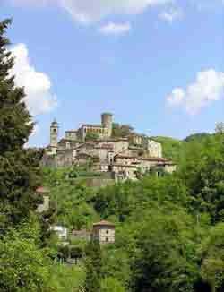 Bagnone castle in Italy